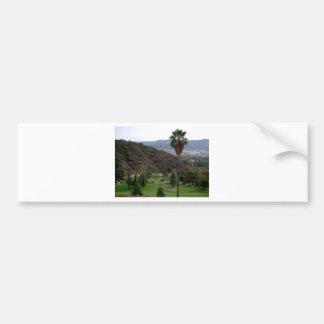 Glendale atop the Verdugo Mountain Range Car Bumper Sticker