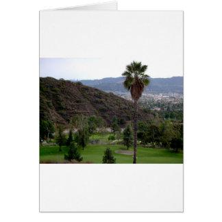 Glendale atop the Verdugo Mountain Range Card