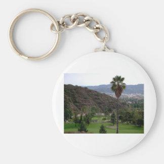 Glendale atop the Verdugo Mountain Range Key Chains