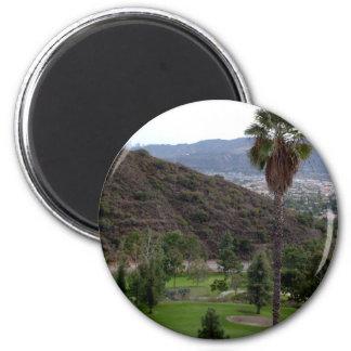 Glendale atop the Verdugo Mountain Range Magnet