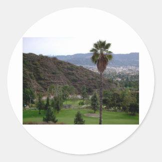 Glendale atop the Verdugo Mountain Range Round Sticker