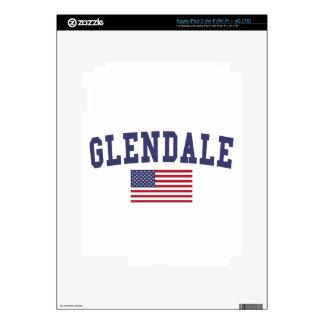 Glendale CA US Flag iPad 3 Skin