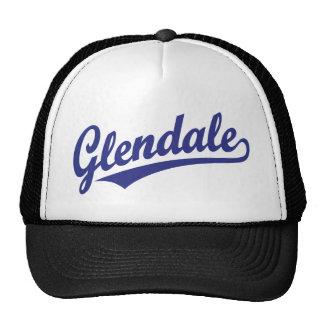 Glendale script logo in blue trucker hat