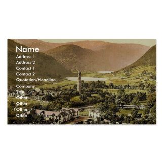 Glendalough. Co. Wicklow, Ireland classic Photochr Double-Sided Standard Business Cards (Pack Of 100)