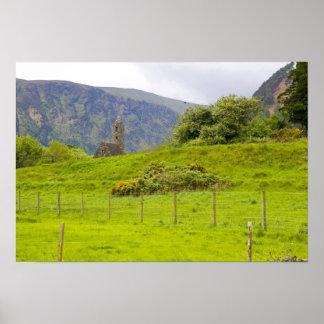 Glendalough, Ireland. Glendalough is one of Poster