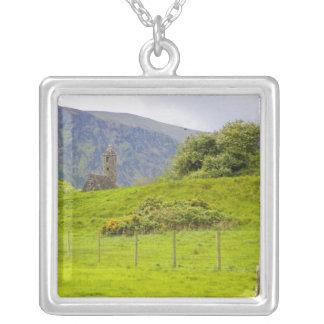 Glendalough, Ireland. Glendalough is one of Square Pendant Necklace