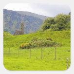 Glendalough, Irlanda. Glendalough es uno de Pegatina Cuadrada