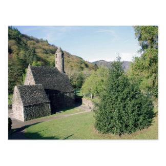 Glendalough view postcard