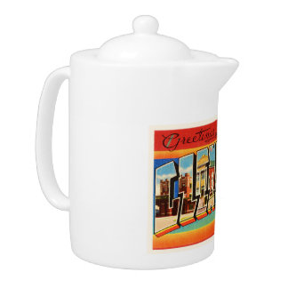 Glendive Montana MT Old Vintage Travel Souvenir Teapot