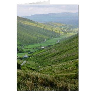 Glengesh pasa los valles Irlanda Felicitacion