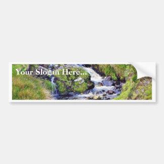 Glengesh Pass In Ireland Stream Brooks Water Moss Car Bumper Sticker