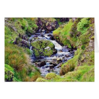 Glengesh Pass In Ireland Stream Brooks Water Moss Greeting Card