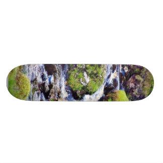 Glengesh Pass In Ireland Stream Brooks Water Moss Skate Board Decks