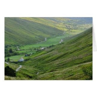 Glengesh Passes Valleys Ireland Greeting Card