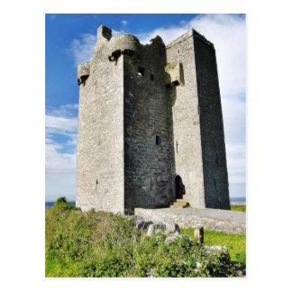 Gleninagh Castle On Hill Postcard