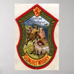 Glenlivet Whisky label,1897 Posters