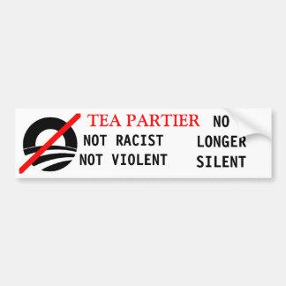 Glenn Beck Not Racist Not Violent No longer silent Bumper Stickers