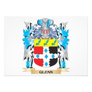 Glenn Coat of Arms - Family Crest Personalized Invites