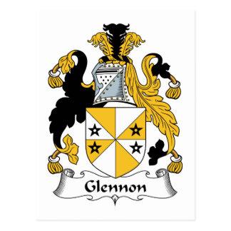 Glennon Family Crest Postcard