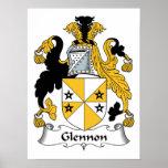Glennon Family Crest Poster