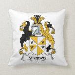 Glennon Family Crest Throw Pillow