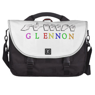 GLENNON NAME SIGN FINGERSPELLED ASL BAG FOR LAPTOP