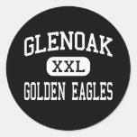 GlenOak - Eagles de oro - alto - cantón Ohio Pegatinas