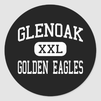 GlenOak - Golden Eagles - High - Canton Ohio Classic Round Sticker