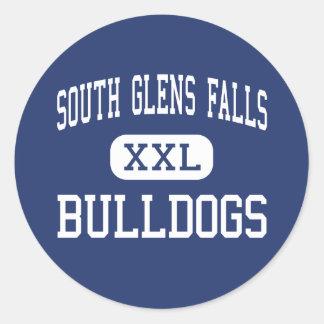 Glens Falls del sur - dogos - Glens Falls del sur Pegatina Redonda