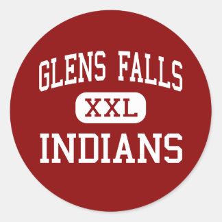 Glens Falls - Indians - High - Glens Falls Round Sticker