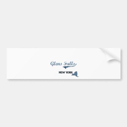 Glens Falls New York City Classic Car Bumper Sticker