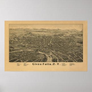 Glens Falls NY 1884 Póster