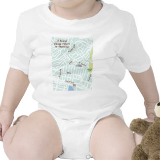 Glenview, Oakland, mapa del bebé de la vecindad Traje De Bebé