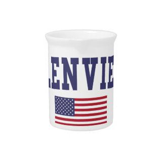 Glenview US Flag Beverage Pitcher