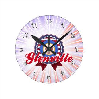 Glenville manganeso reloj de pared