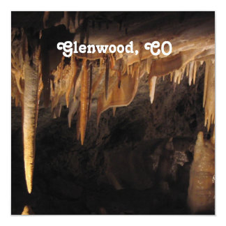 Glenwood Caverns 5.25x5.25 Square Paper Invitation Card