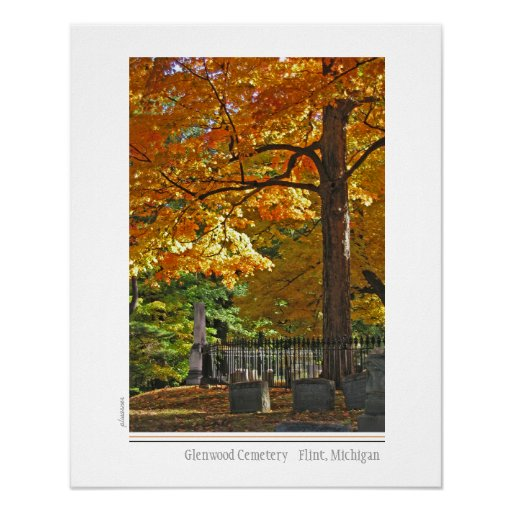 Glenwood Cemtery, pedernal, Michigan Poster