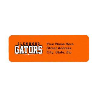 Glenwood High School; Gators Return Address Label