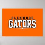 Glenwood High School; Gators Print