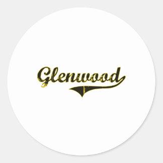 Glenwood Iowa Classic Design Classic Round Sticker