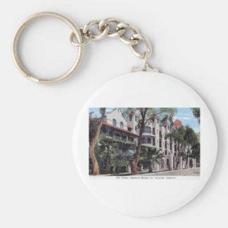 Glenwood Mission Inn, Riverside CA Vintage Basic Round Button Keychain