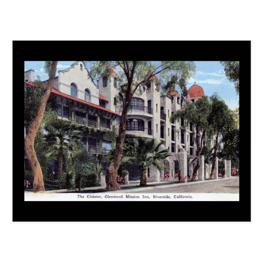 Glenwood Mission Inn, Riverside CA Vintage Postcard