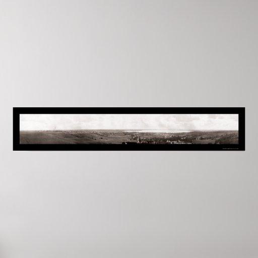 Glenwood MN Panorama Photo 1913 Print