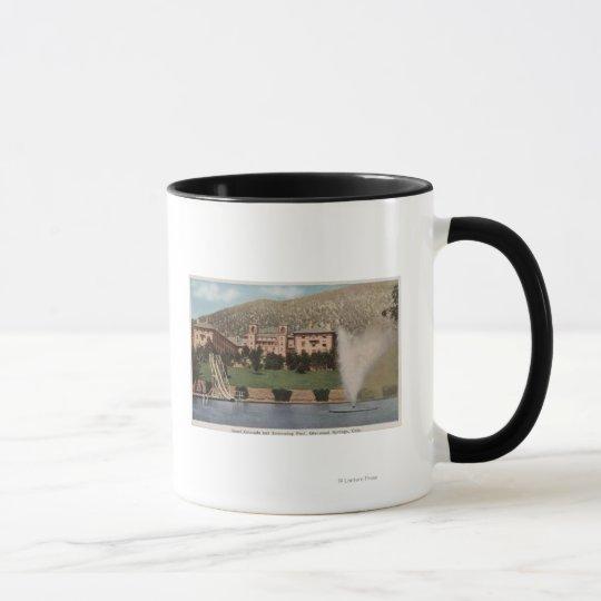 Glenwood Springs, CO - View of Hotel CO & Pool Mug