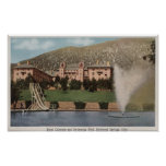 Glenwood Springs, CO - View of Hotel CO & Pool Posters