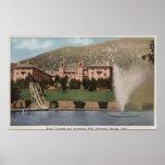 Glenwood Springs, CO - vista del hotel CO y piscin Póster