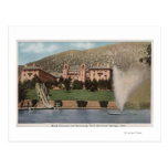 Glenwood Springs, CO - vista del hotel CO y piscin Tarjeta Postal