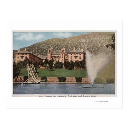 Glenwood Springs, CO - vista del hotel CO y Tarjetas Postales