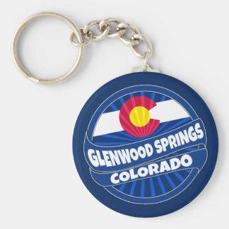 Glenwood Springs Colorado flag burst keychain