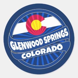 Glenwood Springs Colorado flag burst stickers